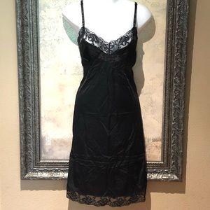 Other - Vintage Slip Chemise Nightie Silky Black